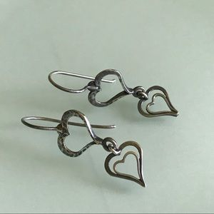 Silpada | Double Heart Spread the Love Earrings